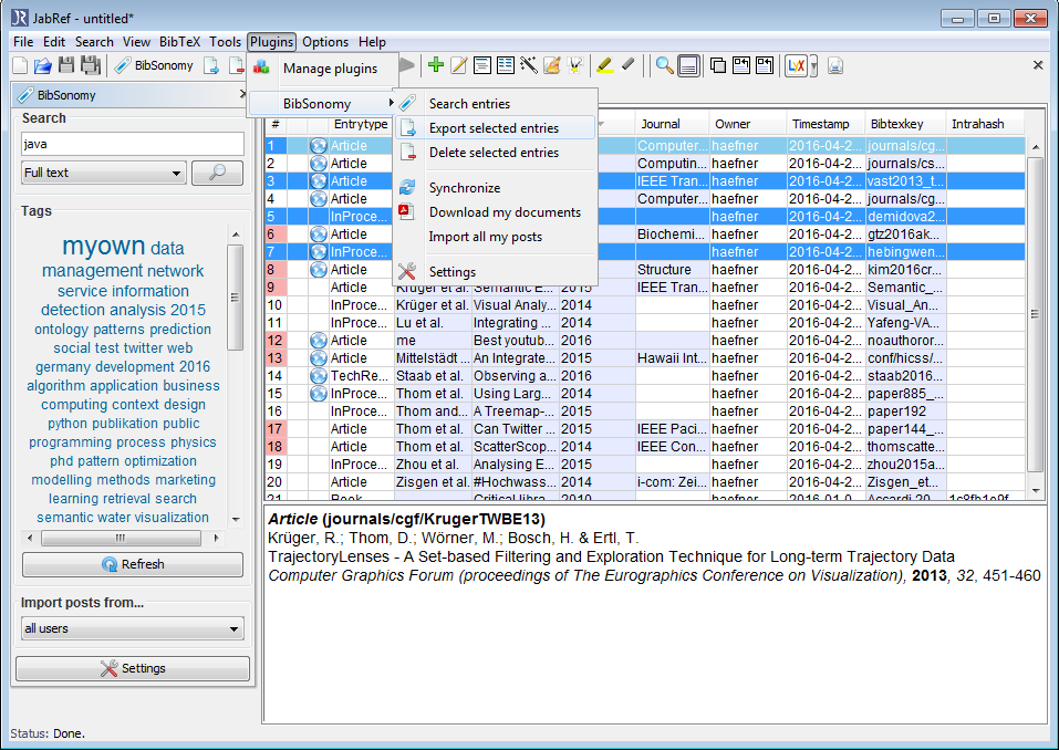 free  jabref software engineering